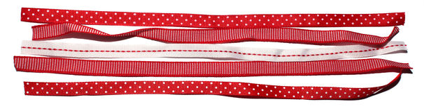 Collection of five gift ribbons. Stock Image