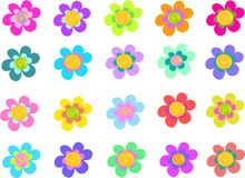 Collection of Five Petal Spiral Flowers Stock Photos