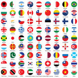 Collection of flag button icons design Stock Photography