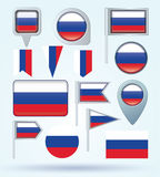 Collection Flag of Russia, vector illustration Royalty Free Stock Images