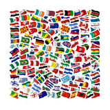 Collection of Flags. On a withe background Stock Photos