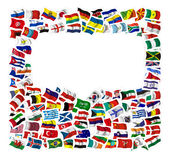 Collection of Flags. On a withe background Royalty Free Stock Photography