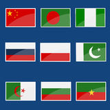 Collection of flags Stock Photo