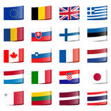 Collection flags national countries Royalty Free Stock Photos