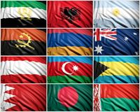 Collection of  flags Royalty Free Stock Images