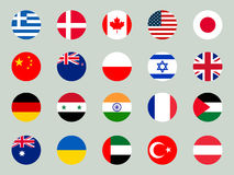 Collection of flags of the world on a white background. Vector Stock Photography