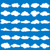 Collection of flat blank cloud Royalty Free Stock Photography
