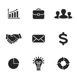 Collection of flat business icons. Royalty Free Stock Images