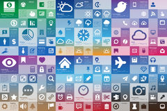 Collection of flat design interface icon set Royalty Free Stock Photography