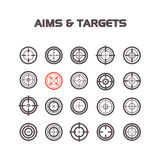 Collection of flat game targets . Royalty Free Stock Images