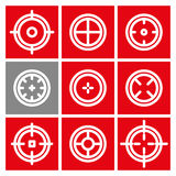 Collection of flat game targets . Royalty Free Stock Photos