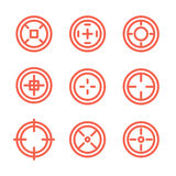 Collection of flat game targets isolated. Stock Photos