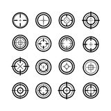 Collection of flat game targets isolated. Royalty Free Stock Photography