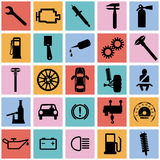 Collection flat icons. Car symbols. Vector Royalty Free Stock Photography