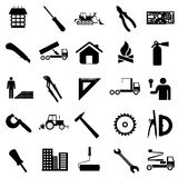 Collection flat icons. Construction symbols. Royalty Free Stock Photography