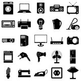 Collection flat icons. Electrical devices symbols. Royalty Free Stock Photos