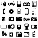 Collection flat icons. Multimedia symbols. Vector Royalty Free Stock Image