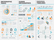 Collection of flat infographic vector design template Stock Photo