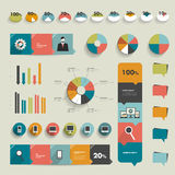 Collection of flat infographics elements. Stock Image