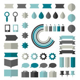 Collection of flat infographics elements. Stock Photos