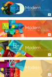 Collection of flat web infographic concepts and Royalty Free Stock Photos