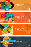 Collection of flat web infographic concepts and Royalty Free Stock Image