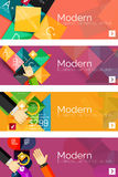 Collection of flat web infographic concepts and Royalty Free Stock Photo