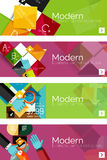 Collection of flat web infographic concepts and Stock Image