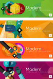 Collection of flat web infographic concepts and Stock Photos