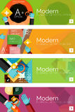 Collection of flat web infographic concepts and Royalty Free Stock Photography