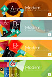 Collection of flat web infographic concepts and Stock Images