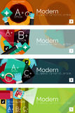 Collection of flat web infographic concepts and Royalty Free Stock Images