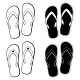 Vector collection of  flip flops icons Stock Photography