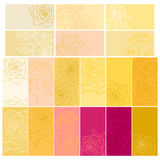 Collection of floral backgrounds with roses vector illustration