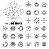 Collection of floral elements -  vector graphic. Art Stock Photos