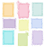 Collection of floral frames. Collection of different colored frames with empty place for text or photo Vector Illustration