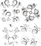 Collection of floral ornaments royalty free stock images