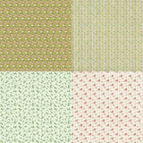 Collection floral pattern backgrounds Stock Image