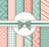 Collection floral pattern for scrapbook Royalty Free Stock Photos