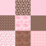 Collection floral pattern for scrapbook. Royalty Free Stock Photography
