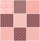 Collection floral pattern for scrapbook. Royalty Free Stock Photo
