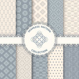 Collection floral pattern for scrapbook. Royalty Free Stock Images