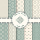 Collection floral pattern for scrapbook. Stock Images