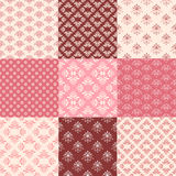 Collection floral pattern Royalty Free Stock Photography