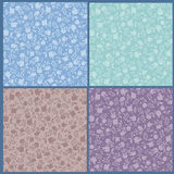 Collection of floral seamless patterns Royalty Free Stock Photos
