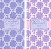 Collection of floral seamless patterns for chocolate packaging Royalty Free Stock Photos