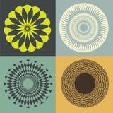 Collection florale d'illusion optique Image libre de droits