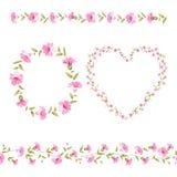 Collection florale de cadre Photos stock
