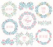Collection florale de cadre Image stock