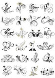 Collection flourishes patterns for design Royalty Free Stock Image
